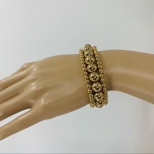 Apt. 9 Set of Three Gold Ball Bracelets